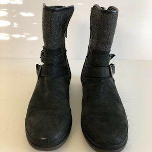 UGG Australia Womens Simmens Boots Black Leather 8